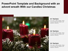 Powerpoint Template And Background With An Advent Wreath With Our Candles Christmas