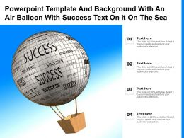 Powerpoint Template And Background With An Air Balloon With Success Text On It On The Sea