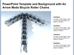 Powerpoint Template And Background With An Arrow Made Bicycle Roller Chains