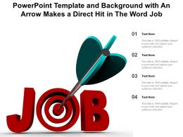 Powerpoint Template And Background With An Arrow Makes A Direct Hit In The Word Job
