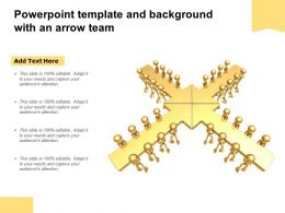 Powerpoint Template And Background With An Arrow Team