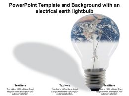 Powerpoint Template And Background With An Electrical Earth Lightbulb