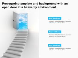 Powerpoint Template And Background With An Open Door In A Heavenly Environment