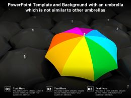 Powerpoint Template And Background With An Umbrella Which Is Not Similar To Other Umbrellas