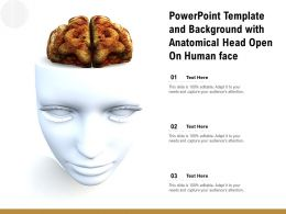 Powerpoint Template And Background With Anatomical Head Open On Human Face