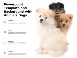 Powerpoint Template And Background With Animals Dogs