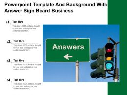 Powerpoint Template And Background With Answer Sign Board Business