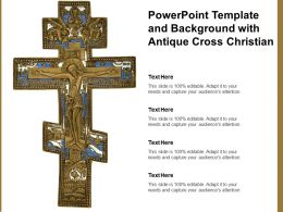 Powerpoint Template And Background With Antique Cross Christian