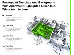 Powerpoint Template And Background With Apartment Highlighted Green In A White Architecture