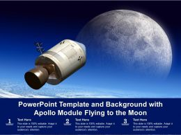 Powerpoint Template And Background With Apollo Module Flying To The Moon