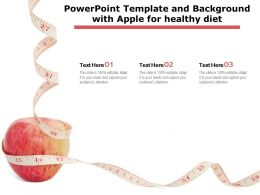 Powerpoint Template And Background With Apple For Healthy Diet