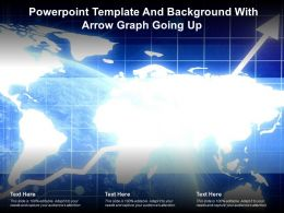 Powerpoint Template And Background With Arrow Graph Going Up