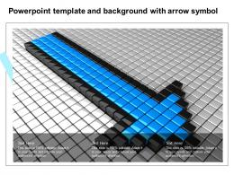 Powerpoint Template And Background With Arrow Symbol