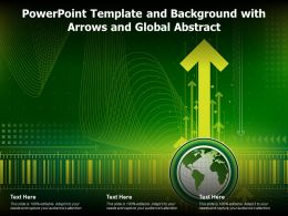Powerpoint Template And Background With Arrows And Global Abstract
