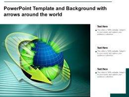 Powerpoint Template And Background With Arrows Around The World