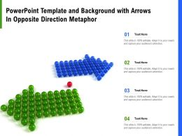 Powerpoint Template And Background With Arrows In Opposite Direction Metaphor