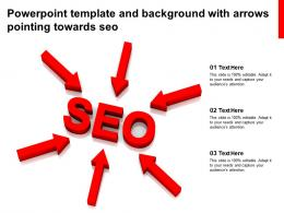 Powerpoint Template And Background With Arrows Pointing Towards SEO