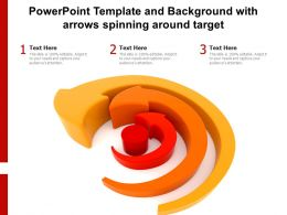 Powerpoint Template And Background With Arrows Spinning Around Target