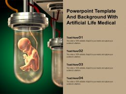 Powerpoint Template And Background With Artificial Life Medical
