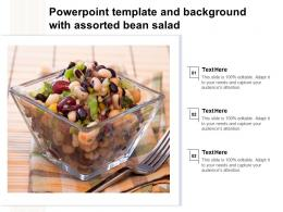 Powerpoint Template And Background With Assorted Bean Salad