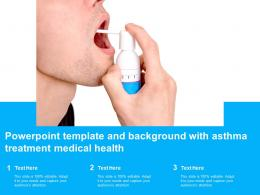 Powerpoint Template And Background With Asthma Treatment Medical Health