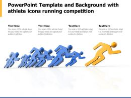 Powerpoint Template And Background With Athlete Icons Running Competition