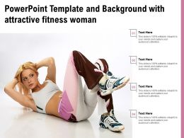 Powerpoint Template And Background With Attractive Fitness Woman