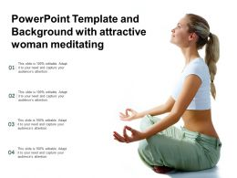 Powerpoint Template And Background With Attractive Woman Meditating