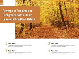 Powerpoint Template And Background With Autumn Leaves Falling Down Nature