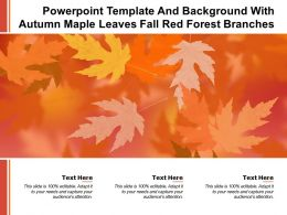 Powerpoint Template And Background With Autumn Maple Leaves Fall Red Forest Branches