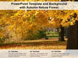 Powerpoint Template And Background With Autumn Nature Forest