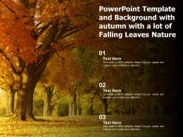 Powerpoint Template And Background With Autumn With A Lot Of Falling Leaves Nature