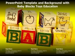 Powerpoint Template And Background With Baby Blocks Toys Education