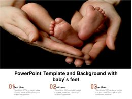 Powerpoint Template And Background With Babys Feet