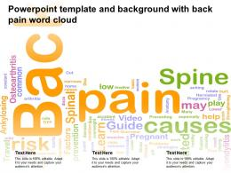 Powerpoint Template And Background With Back Pain Word Cloud
