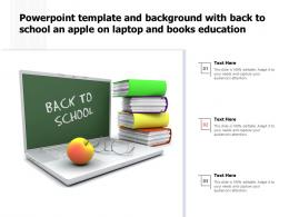 Powerpoint Template And Background With Back To School An Apple On Laptop And Books Education