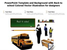 Powerpoint Template And Background With Back To School Colored Vector Illustration For Designers