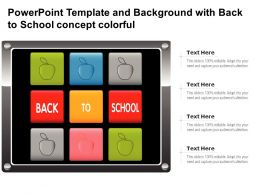 Powerpoint Template And Background With Back To School Concept Colorful