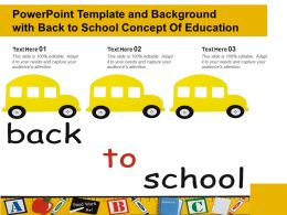 Powerpoint Template And Background With Back To School Concept Of Education