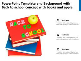 Powerpoint Template And Background With Back To School Concept With Books And Apple