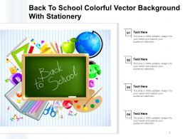 Powerpoint Template And Background With Back To School Education Group