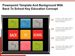 Powerpoint Template And Background With Back To School Key Education Concept