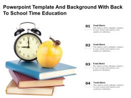 Powerpoint Template And Background With Back To School Time Education