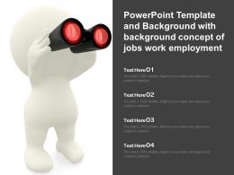 Powerpoint Template And Background With Background Concept Of Jobs Work Employment