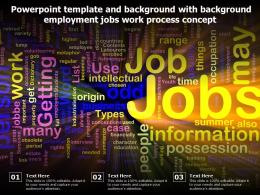 Powerpoint Template And Background With Background Employment Jobs Work Process Concept