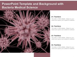 Powerpoint Template And Background With Bacteria Medical Science