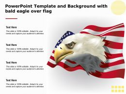Powerpoint Template And Background With Bald Eagle Over Flag