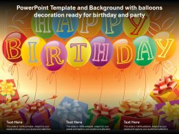 Powerpoint Template And Background With Balloons Decoration Ready For Birthday And Party