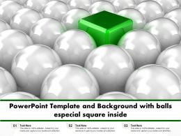 Powerpoint Template And Background With Balls Especial Square Inside