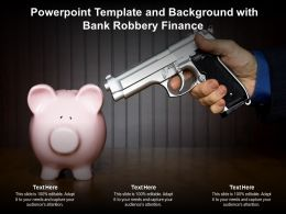 Powerpoint Template And Background With Bank Robbery Finance